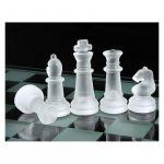 Hodiny na zeď Skleněné šachy 146066 Designové hodiny
