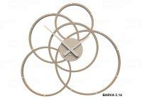 Designové hodiny 10-215 CalleaDesign Black Hole 59cm (více barevných verzí) Barva broskvová světlá-22 166415 Hodiny