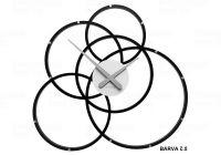 Designové hodiny 10-215 CalleaDesign Black Hole 59cm (více barevných verzí) Barva terracotta-24 166417 Hodiny