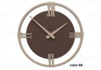 Designové hodiny 10-031 CalleaDesign Sirio 38cm (více barevných verzí) Barva čokoládová-69 - RAL8017 169176 Hodiny