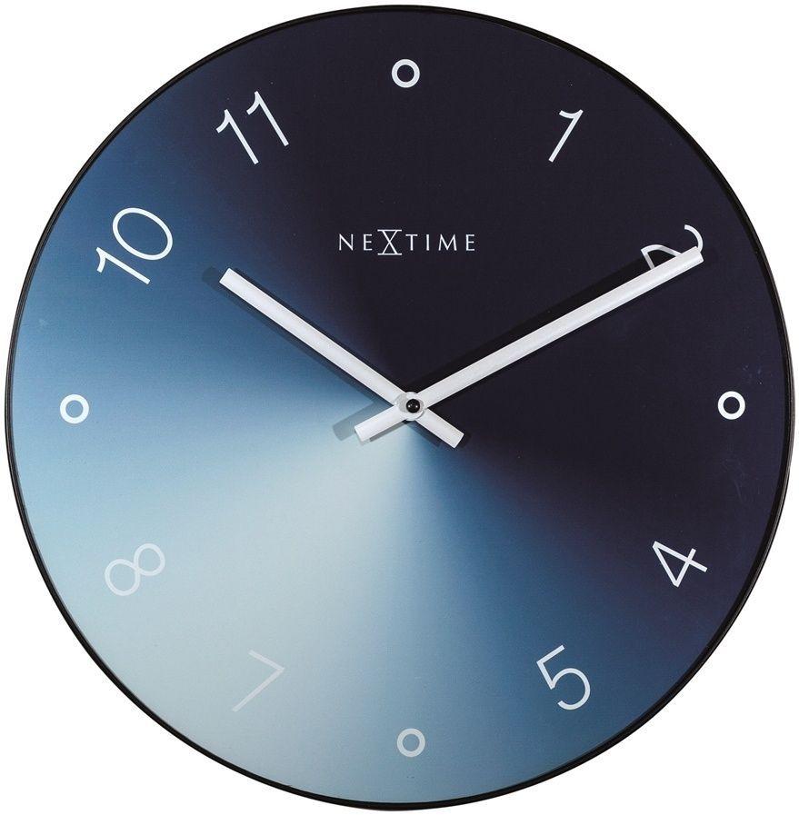 Designové nástěnné hodiny 8194bl Nextime Gradient 40cm 169476 Hodiny