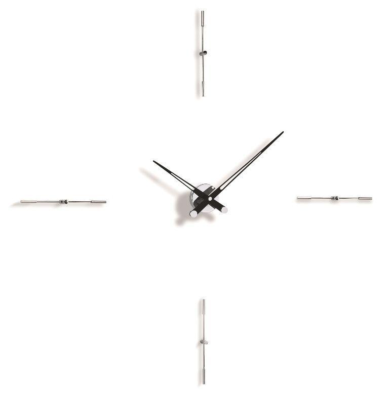 Designové nástěnné hodiny Nomon Merlin 4i black 110cm 169298 Hodiny