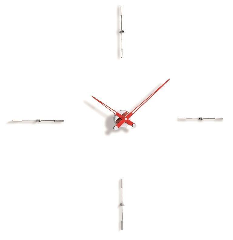 Designové nástěnné hodiny Nomon Merlin 4i red 110cm 169297 Hodiny