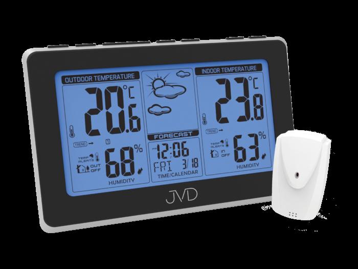 Rádiem řízená meteorologická stanice JVD RB657 169478 Hodiny