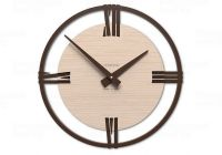 Designové hodiny 10-216n natur CalleaDesign Sirio 60cm (více dekorů dýhy) Dýha černý ořech - 85 169629 Hodiny