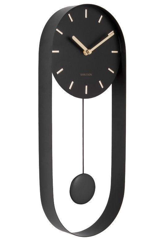 Designové kyvadlové nástěnné hodiny 5822BK Karlsson 50cm 169509