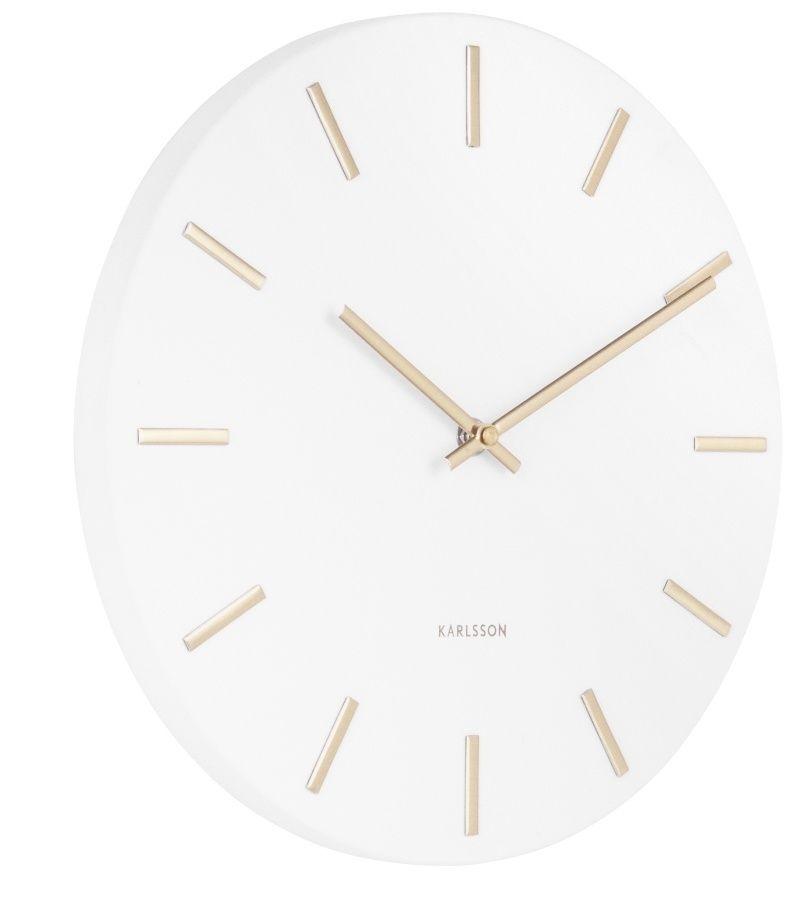 Designové nástěnné hodiny 5821WH Karlsson 30cm 169508 Hodiny