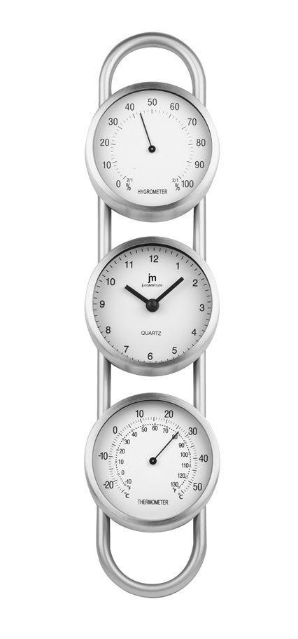 Lowell Italy Nástěnné hodiny s teploměrem a vlhkoměrem 14951 Lowell 38cm 169601