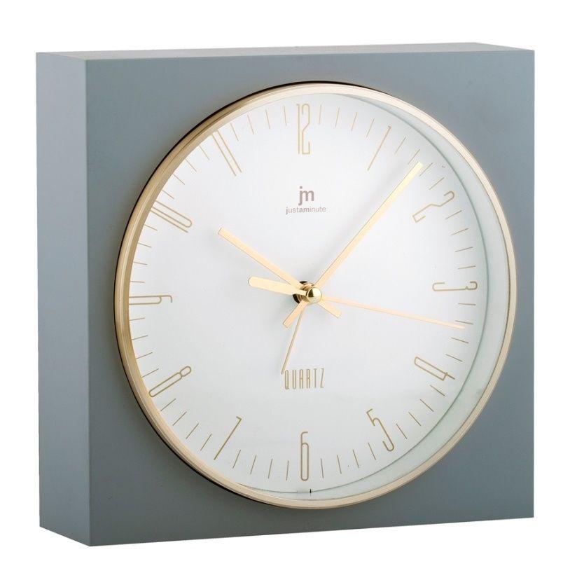 Stolní hodiny s funkci budíku JA7070G Lowell 16cm 169617 Lowell Italy Hodiny