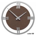 Designové hodiny 10-031n natur CalleaDesign Sirio 38cm (více dekorů dýhy) Dýha černý ořech - 85 169754 Hodiny