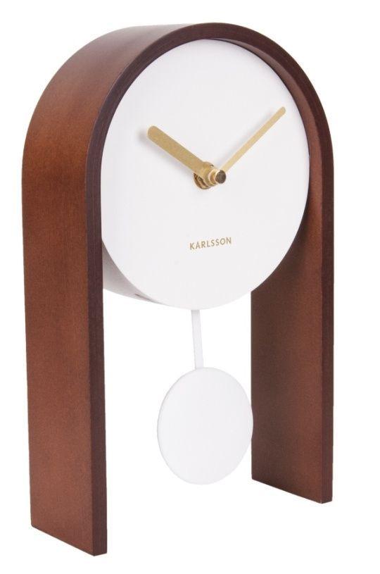 Designové kyvadlové stolní hodiny 5705DW Karlsson 25cm 169748 Hodiny