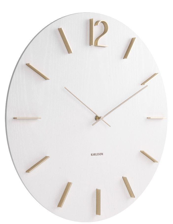 Designové nástěnné hodiny 5697WH Karlsson 50cm 169757