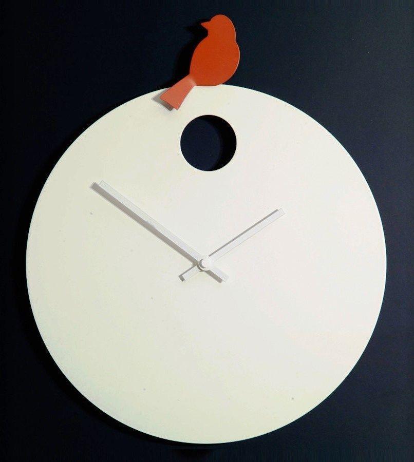 Designové nástěnné hodiny Diamantini&Domeniconi 394 orange Bird 40cm 169654 Hodiny