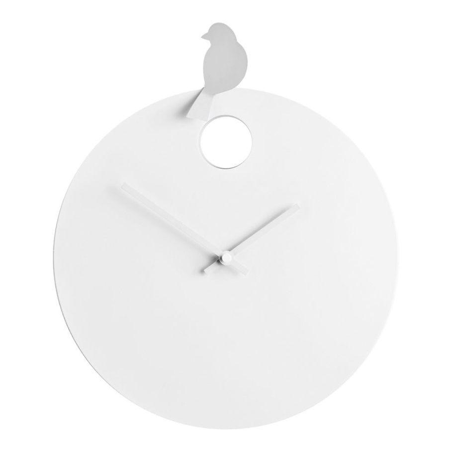 Designové nástěnné hodiny Diamantini&Domeniconi 394 silver Bird 40cm 169655 Hodiny