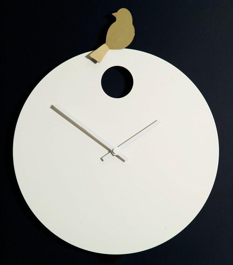 Designové nástěnné hodiny Diamantini&Domeniconi 394 gold Bird 40cm 169652 Hodiny