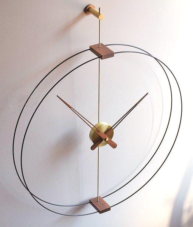 Designové nástěnné hodiny Nomon Barcelona Gold Small 76cm 169794 Hodiny