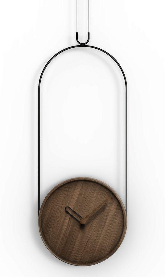 Designové nástěnné hodiny Nomon Colgante Walnut Black 169778 Hodiny