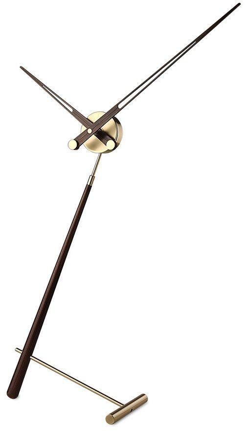 Designové stolní hodiny Nomon Puntero Gold N wenge 94cm 169781 Hodiny