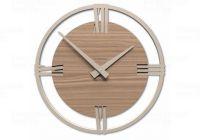 Designové hodiny 10-216n natur CalleaDesign Sirio 60cm (více dekorů dýhy) Dýha tmavý dub - 83 169628 Hodiny
