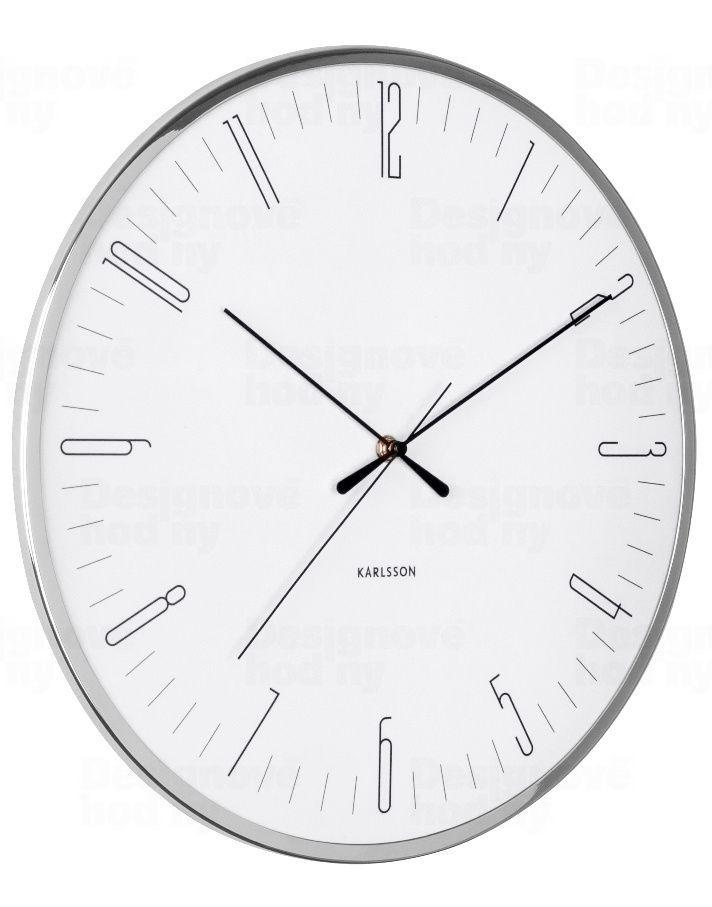 Designové nástěnné hodiny 5754WH Karlsson 40cm 169946 Hodiny