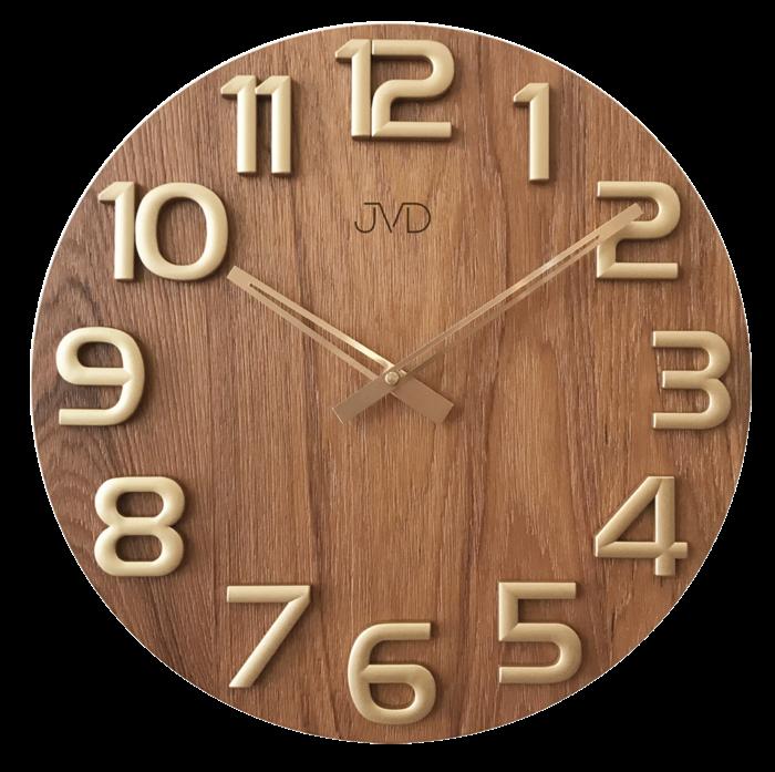 Nástěnné hodiny dřevěné JVD HT97.5 169814 Hodiny