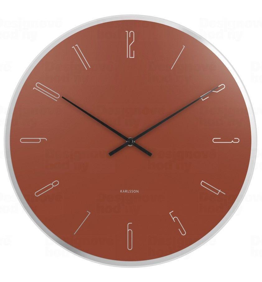Designové nástěnné hodiny 5800BR Karlsson 40cm 170204 Hodiny