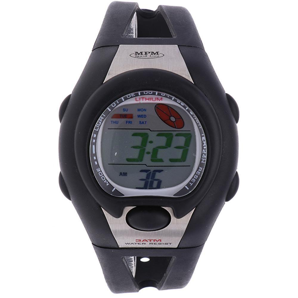 Digitální hodinky s ukazatelem data, alarmem, stopkami a podsvíceným displayem..01634 170169 Hodiny