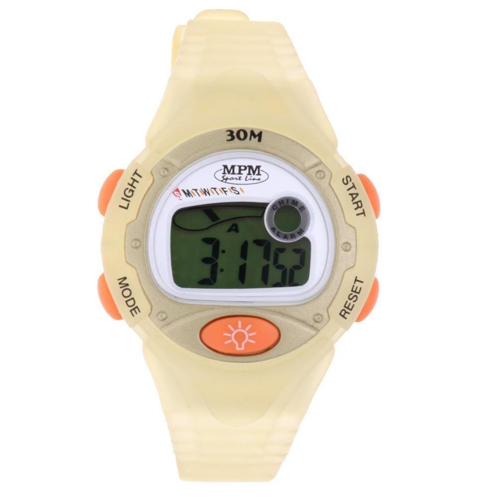 Digitální hodinky s ukazatelem data, alarmem, stopkami a podsvíceným displayem..01651 170186 Hodiny
