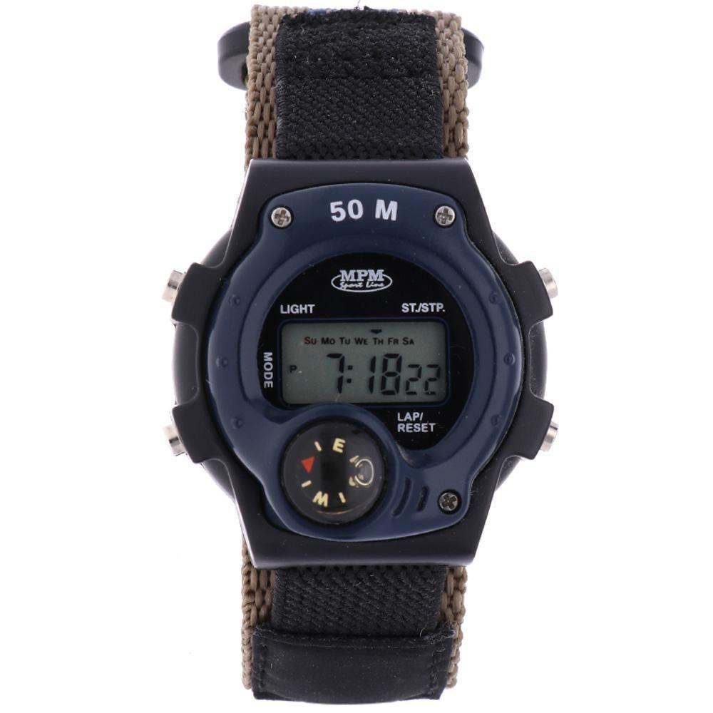 Digitální hodinky s ukazatelem data, alarmem, stopkami a podsvíceným displayem..01639 170174 Hodiny