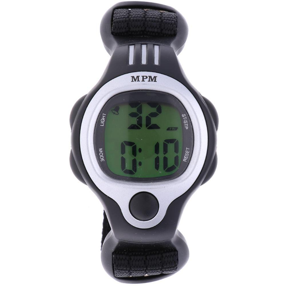 Digitální hodinky s ukazatelem data, alarmem, stopkami a podsvíceným displayem..01640 170175 Hodiny