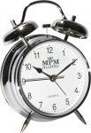 Kovový budík s klasickým zvoněním, které zaručí probuzení i z tvrdého spánku..01623 170156 Hodiny