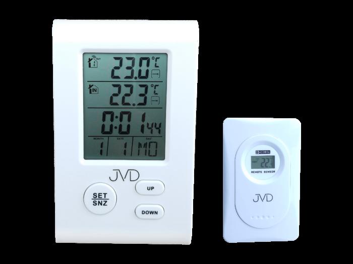 Teploměr JVD T7009 170478 Hodiny