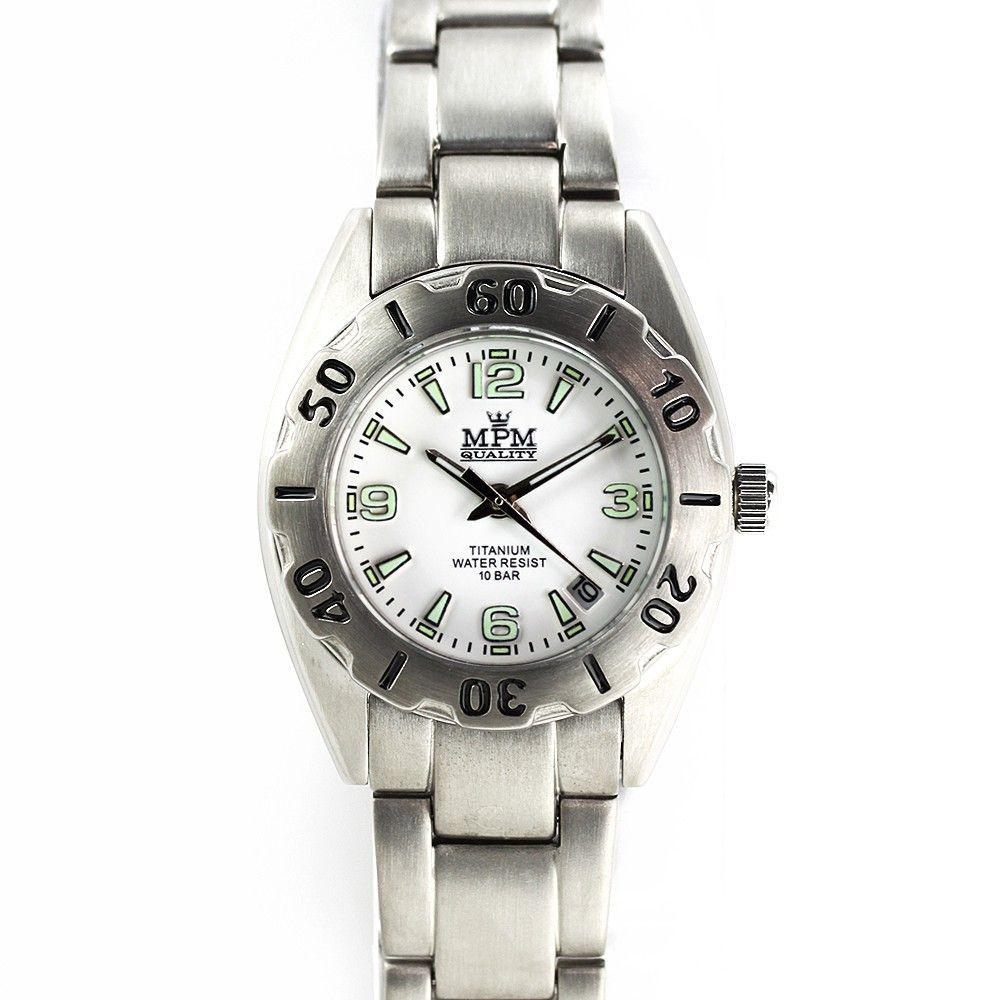 Dámské hodinky s černým číselníkem a datumem v titanovém pouzdře.0203 170591 Hodiny