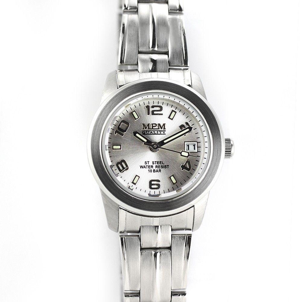 Dámské hodinky s datumem a černým číselníkem v pouzdře z lesklé oceli..0244 170632 Hodiny