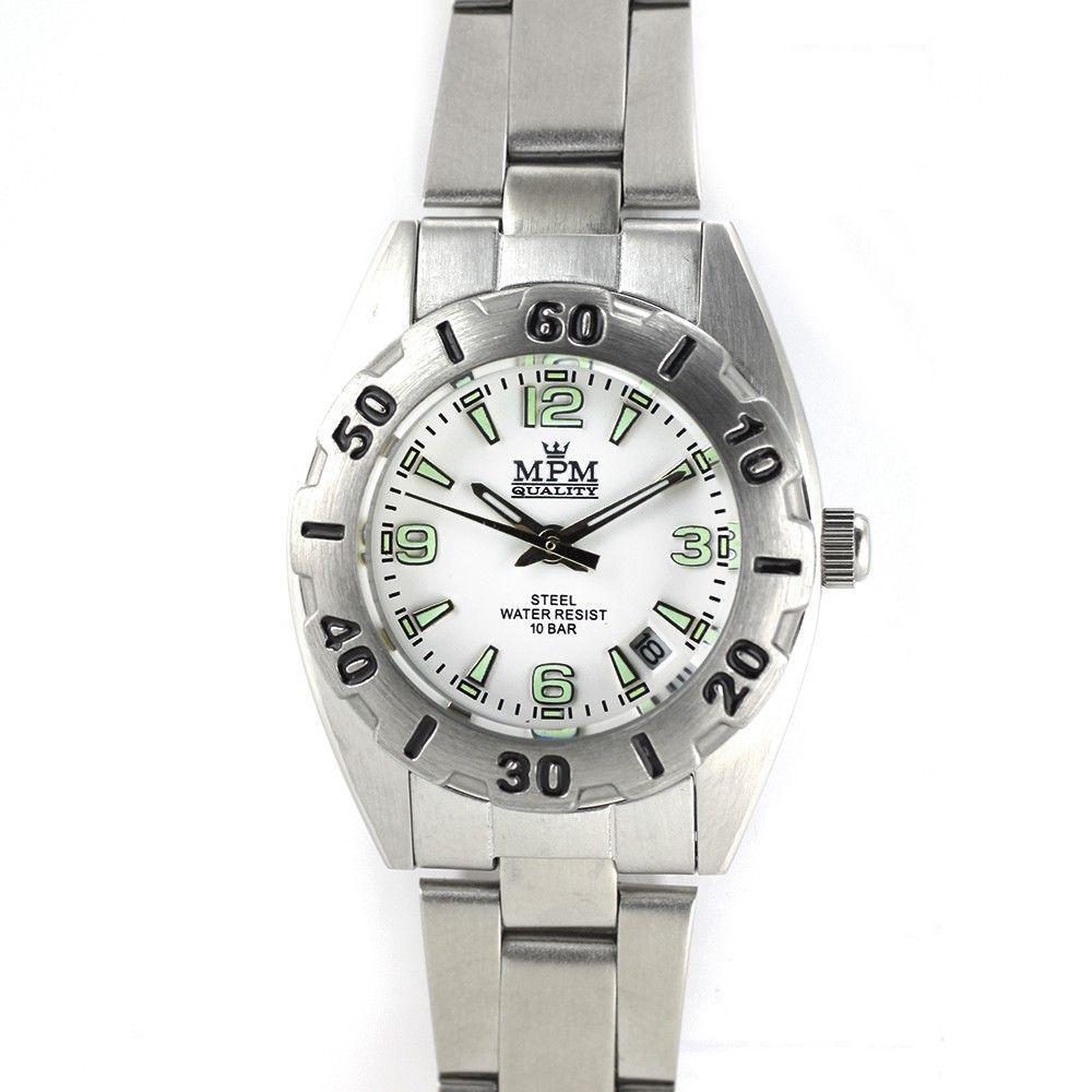 Dámské hodinky s datumem a lunetou..0241 170629 Hodiny