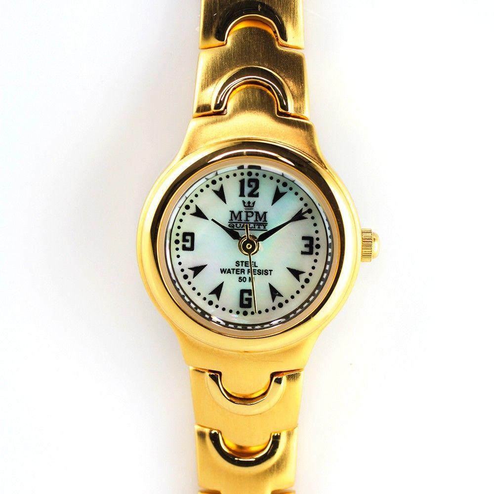 Dámské hodinky s perleťovým číselníkem..0251 170639 Hodiny