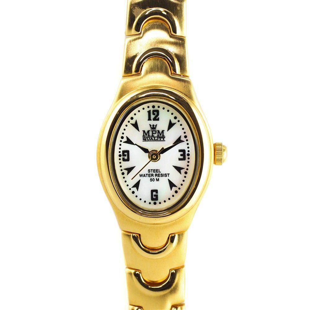 Dámské hodinky s perleťovým číselníkem..0252 170640 Hodiny