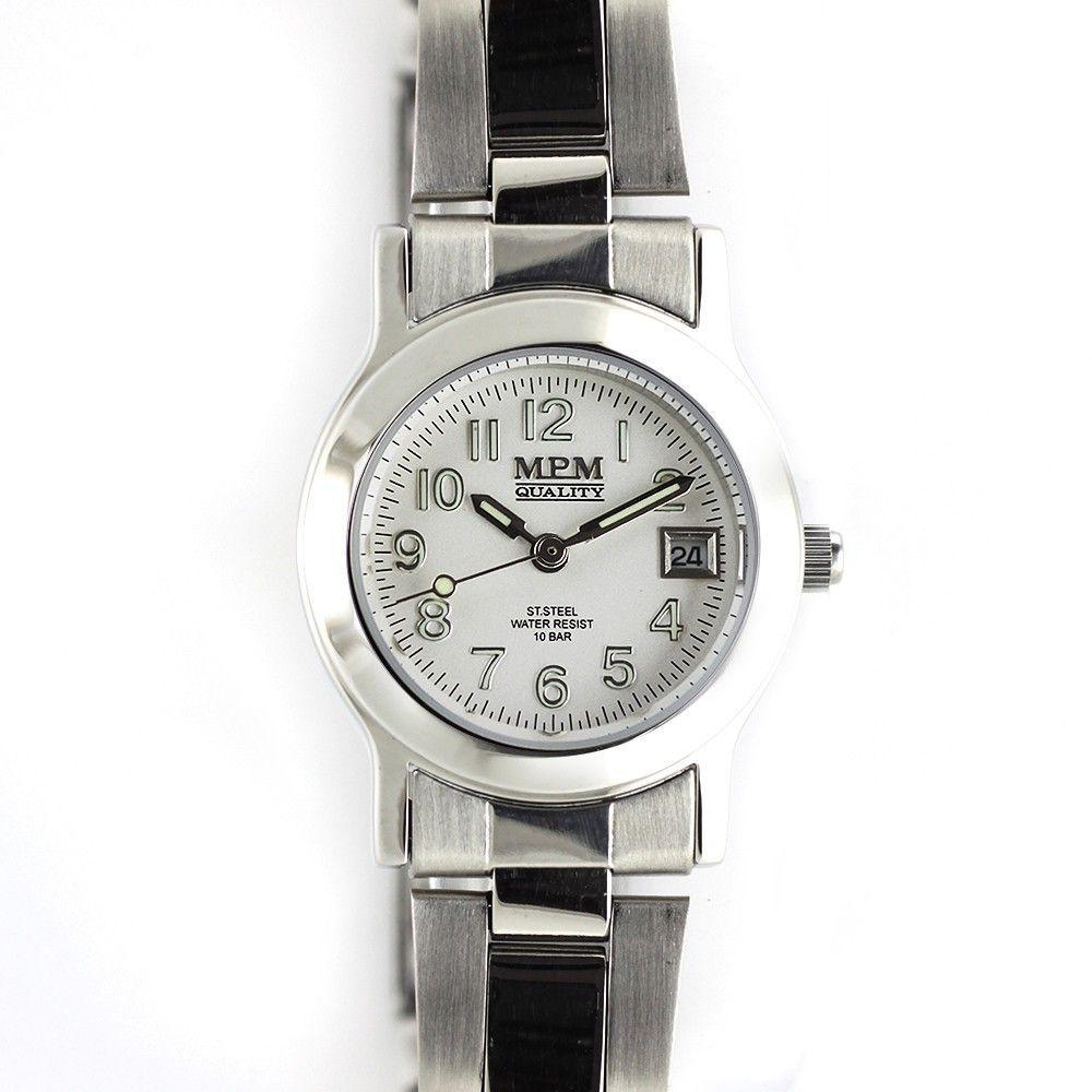 Dámské hodinky s ukazatelem datumu a kombinovaným řemínkem..0242 170630 Hodiny