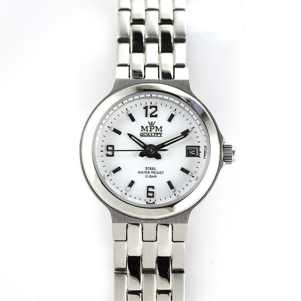 Dámské hodinky s ukazatelem datumu z lesklé oceli..0243 170631 Hodiny
