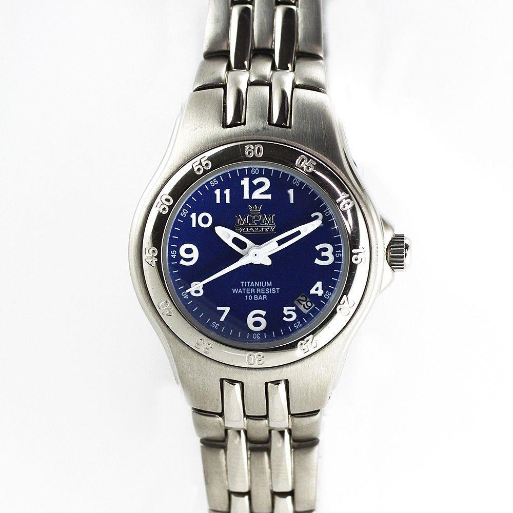 Dámské titanové hodinky s bílým číselníkem a datumem.0204 170592 Hodiny