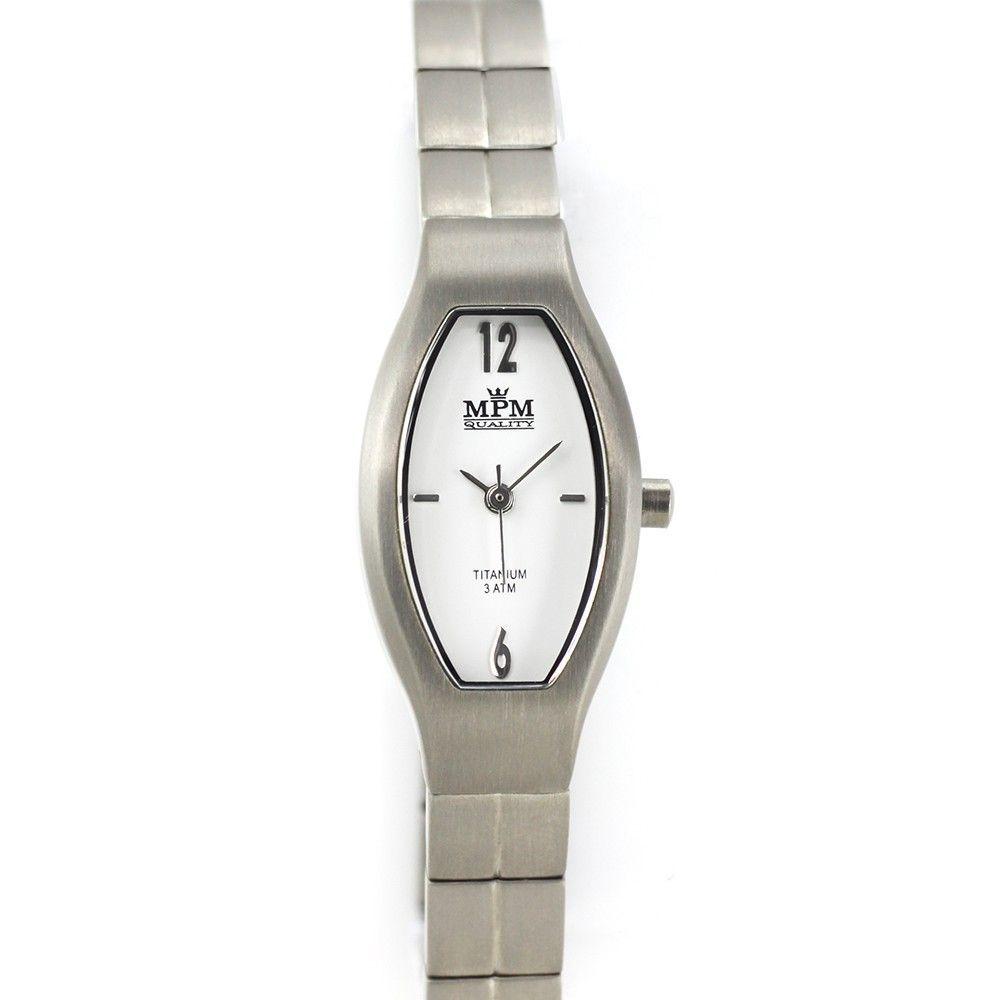 Dámské titanové hodinky s bílým číselníkem.0200 170588 Hodiny