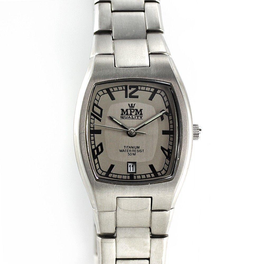 Dámské titanové hodinky s černým ciferníkem a datumem.0202 170590 Hodiny