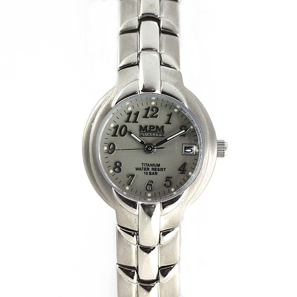 Dámské titanové hodinky s černým číselníkem a datumem.0209 170597 Hodiny
