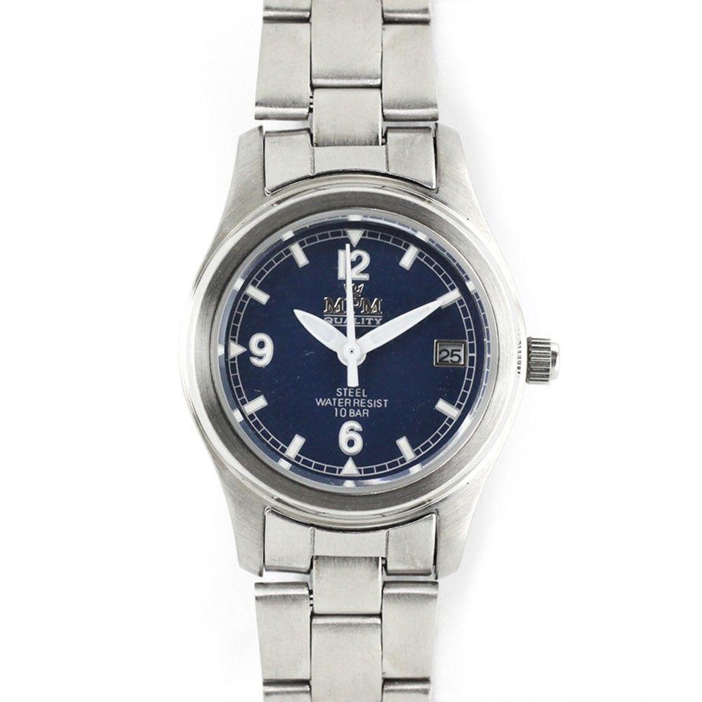 Elegantní dámské hodinky s netradičním modrým číselníkem.0213 170601 Hodiny