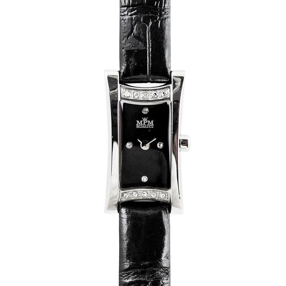 Elegantní dámské hodinky. Zirkony zdobí pouzdro i číselník hodinek..0274 170662 Hodiny