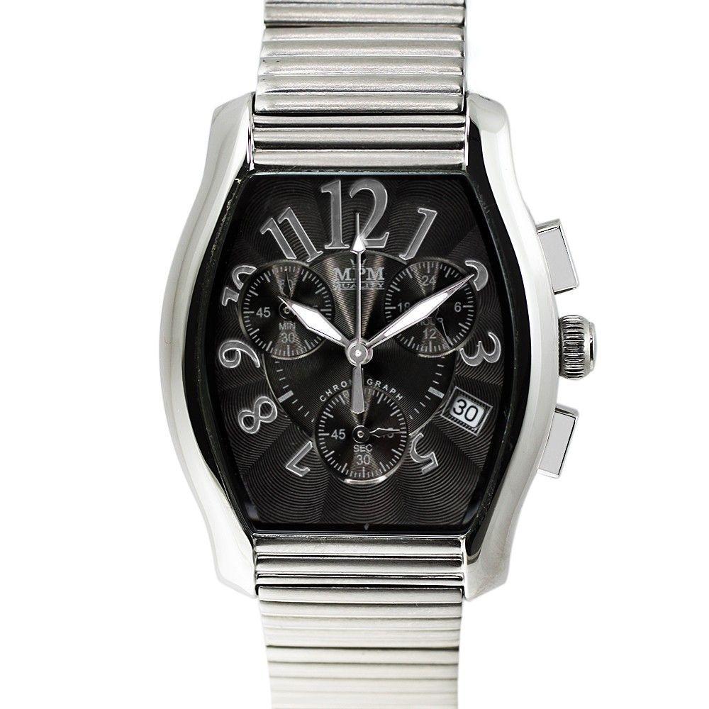 Elegantní pánské hodinky s chronografem v leštěném ocelovém provedení.0194 170582 Hodiny