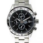Pánské hodinky s chronografem a datem s černým ciferníkem.0189 170577 Hodiny