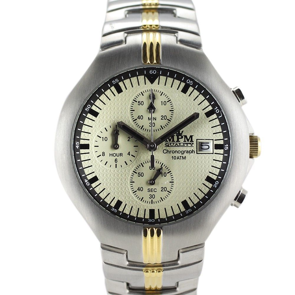 Pánské hodinky s chronografem, datem a reliéfním číselníkem..0290 170677 Hodiny