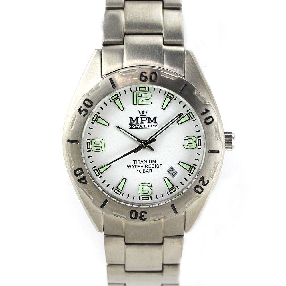 Pánské hodinky s titanovým pouzdrem i řemínkem.0180 170568 Hodiny