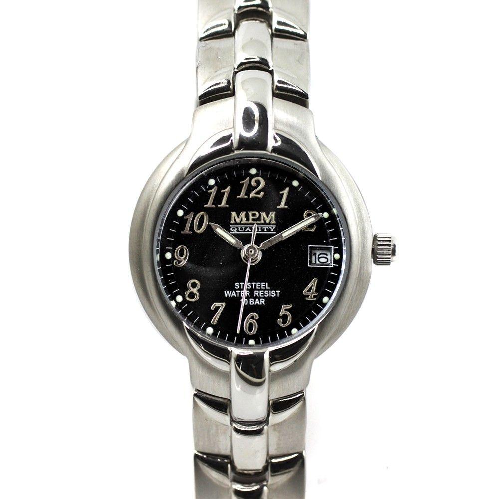 Stylové dámské hodinky s datumem z ušlechtilé oceli.0197 170585 Hodiny